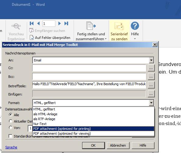 Mail Merge Toolkit Professional